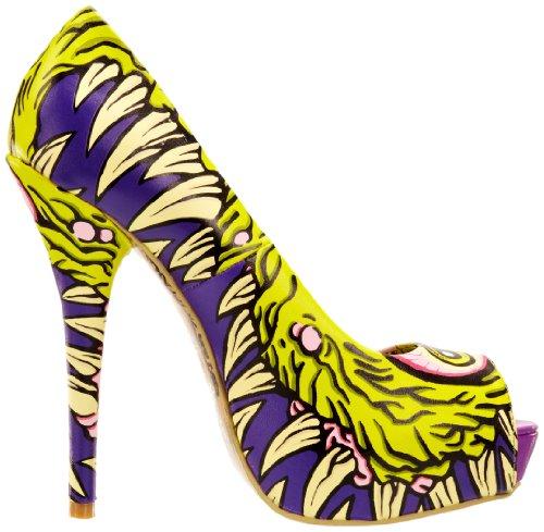 Iron Fist I See You Peep Toe Platform 611677 Damen Pumps Violett (Purple)