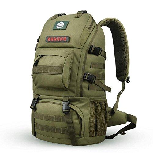 LJ&L High-end al aire libre mochila alpinismo, multi-propósito de excursiones mochila camping impermeable, ajustable, los hombres y las mujeres en general la mochila de moda,A,36-55L B