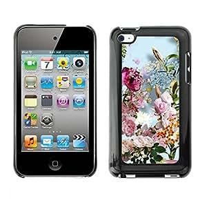 Caso de goma TopCaseStore carcasa protección para Apple iPod Touch 4 - verano primavera flores buqué sol
