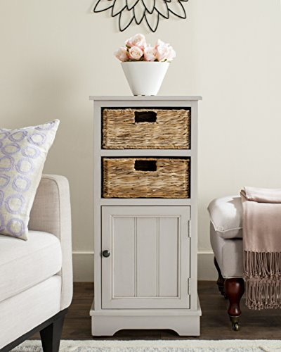 Safavieh AMH5742D American Homes Collection Connery Cabinet, Vintage Grey