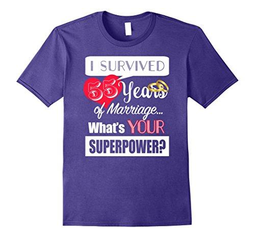 Mens 55 Year Anniversary T shirt 55th Wedding Anniversary Gift Small Purple