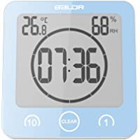 BALDR - Reloj de Ducha (LCD, Impermeable), Color Azul