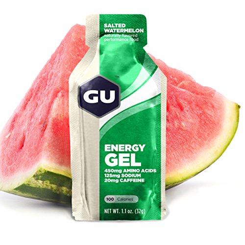 Original de GU deportes nutrición energía Gel, sandía salada, conteo de 8
