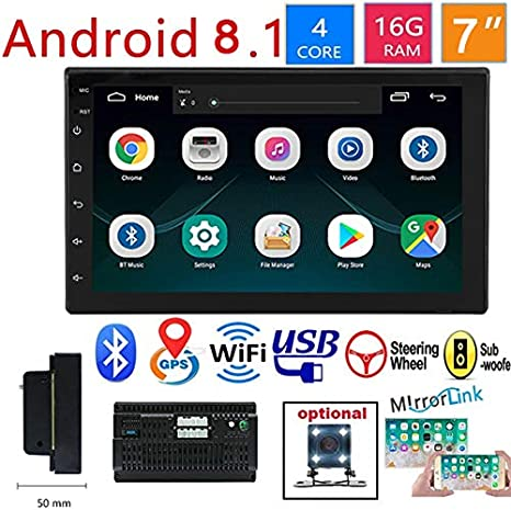 """7/"""" Car Stereo Radio MP5 Player Double DIN Bluetooth HD With GPS Navigation US BP"""