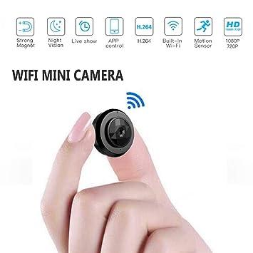 Mini cámara de WiFi micro C6, HD 720P con la aplicación de smartphone y la visión nocturna IP Home seguridad video ...