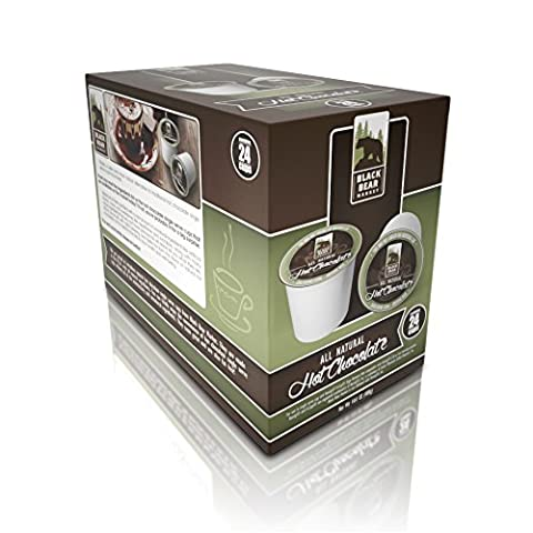 Black Bear Market All Natural Hot Chocolate 24 Count - Cocoa Extra Dark Chocolate