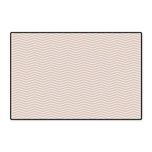Geometric Door Mat Small Rug Chevron Zigzag Lines Geometric Pattern Wavy Stripes Vintage Nostalgic Bath Mat for Bathroom Mat 16