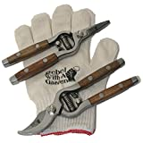 Rebel With A Garden Rebel Frau Bauer Duo 7'' Hand Pruner Shear Set for Women with bonus Cotton Gloves by (Great for Arthritis sufferers hands)