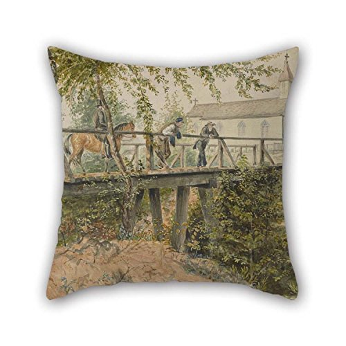Oil Painting Thomas Flintoff - Catholic Church, Houston, Texas Pillow Shams 16 X 16 Inches / 40 By 40 Cm For Pub Him Outdoor Kids Dining Room Home Theater With (Halloween Decorations Houston Texas)