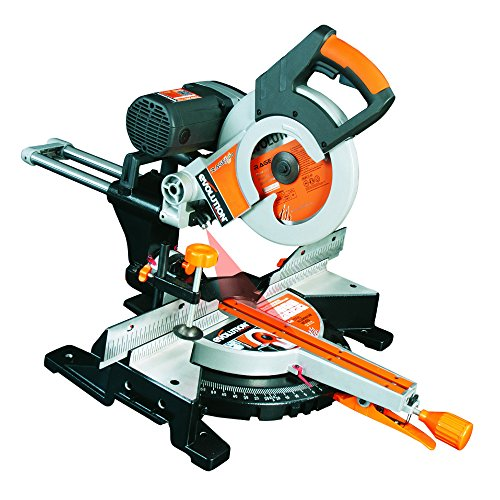 Evolution Power Tools Rage 3-DB Double Bevel Sliding Compound Mitre Saw With Multi-Material Cutting, 45° Bevel, 50° Mitre, 320mm Slide, 2000 W, 255 mm, 230V - Domestic, (3-Year Warranty)
