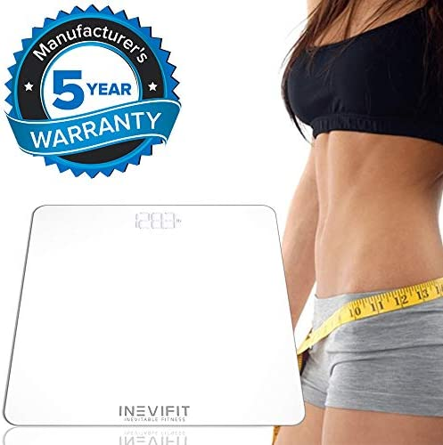 INEVIFIT Bathroom Scale, Highly Accurate Digital Bathroom Body Scale, Measures Weight for Multiple Users. Includes a 5-Year Warranty 6