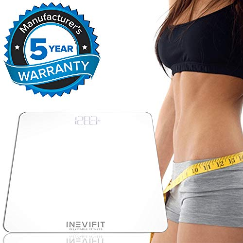 INEVIFIT Bathroom Scale, Highly Accurate Digital Bathroom Body Scale, Measures Weight for Multiple Users. Includes a 5-Year Warranty by INEVIFIT (Image #3)