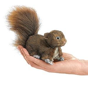folkmanis mini red squirrel finger puppet - 51yIscLQVjL - Folkmanis Mini Red Squirrel Finger Puppet