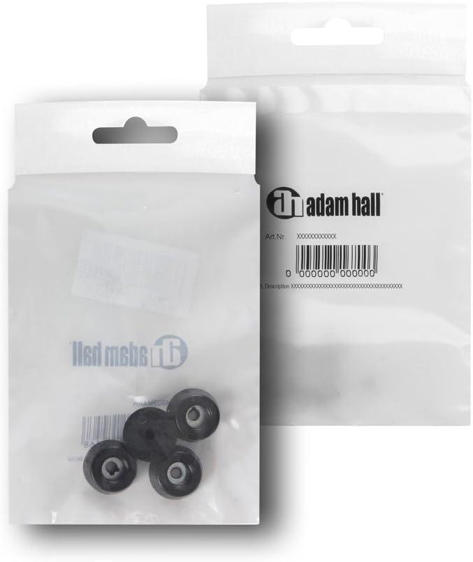 en bolsa Adam Hall hardware negras Juego de patas de goma