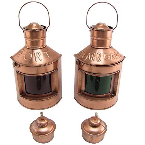 Starboard Lamp (Port Starboard Lamp Set of 2 Oil Lamps Lights Ship Lantern Ships Light Maritime Decor)