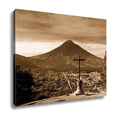 Ashley Canvas Cerro De La Cruz Antigua Guatemala, Wall Art Home Decor, Ready to Hang, Sepia, 16x20, AG6027031