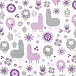 Trend-Lab-Llama-Friends-Deluxe-Flannel-Fitted-Crib-Sheet