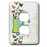 Beverly Turner Administrative Professionals Day - Pretty Butterflies and Daisy Flower, Administrative Professionals Day - Light Switch Covers - 2 plug outlet cover (lsp_239563_6)