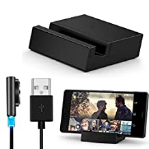 Changeshopping(TM)Metal Magnetic USB Cable + Desktop Dock Set for Sony Xperia Z3 / Z3 Compact