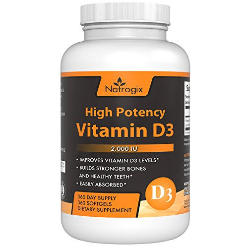 High Potency Vitamin D3 2,000 IU 360-Day Supply (Cholecalciferol) Supplement - The Formula Helps for Healthy Bones and (Premier Labs Liquid Vitamin D)