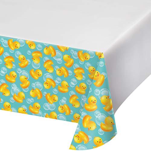 Rubber Duck Bubble Bath Plastic Tablecloths, 3 ct ()