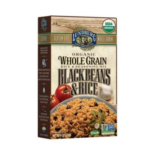 Lundberg Organic Whole Grain Black Beans Rice, 6 Ounce - 6 per case.