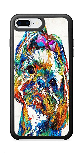Zenzzle for Apple iPhone 7/8 Plus 5.5inch - Colorful Shih Tzu Dog Art By Sharon Cummings - Shock Absorption Protection Phone Cover - Cumming On Women Top