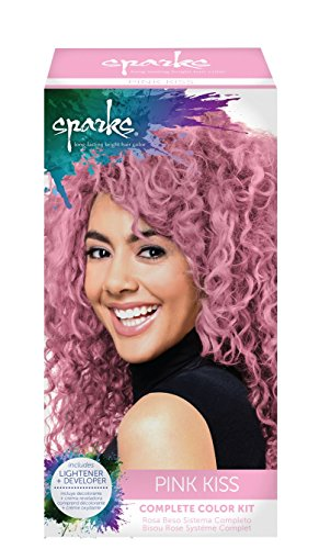 Sparks Complete Color Kit, Pink Kiss (Kiss Hair Dye compare prices)