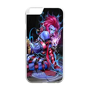 Evelynn-002 League of Legends LoL case cover for Apple iPhone 6 Plus - Plastic White