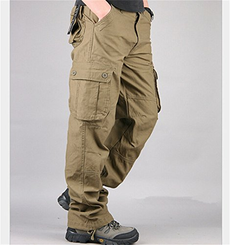 YShowntide Pants Men's Cargo Pants Multi Pocket Military for sale  Delivered anywhere in USA