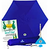 beachBUB ™ All-In-One Beach Umbrella System. Includes 7 ½' (50+ UPF) Umbrella, Oversize Bag, beachBUB ™ Base & Accessory Kit