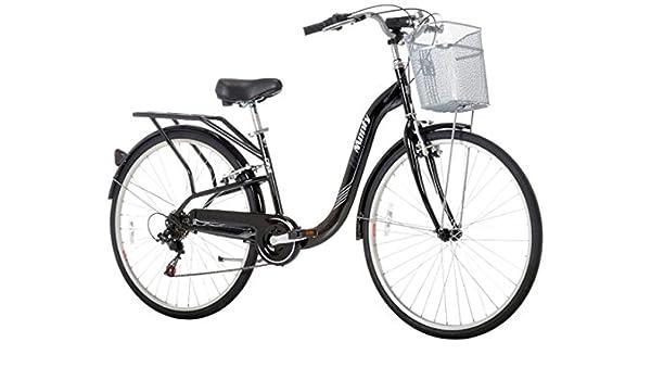 Monty City 5 - Bicicleta de Paseo Unisex, Color Negro, 15