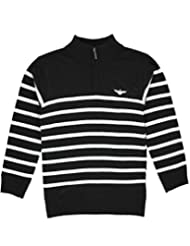 "LR Scoop Big Boys' ""Ribbed Zip"" Sweater"