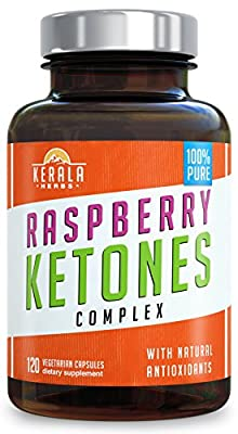 Kerala Herbs Raspberry Ketones Complex For Weight Loss and Natural Energy 120 capsules
