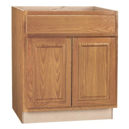 Kitchen Sink Base Cabinet (RSI HOME PRODUCTS SALES CBKSB30-MO Medium Oak Finish Assembled Sink Base Cabinet, 30