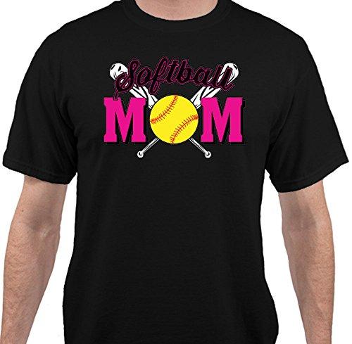 Softball Mom Softball Mens Womens Unisex T-Shirt - Black - Large