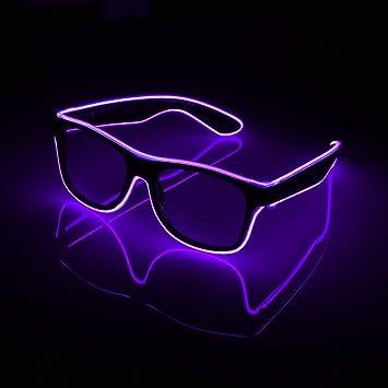 Amazon.com: PLOPLO Voz Control El Wire Glow Sun Glasses Led ...