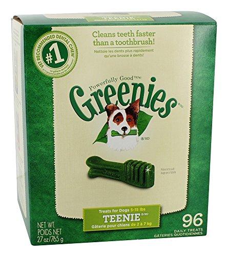(Greenies Dog Dental Chew Treats Teenie 27oz 96ct)