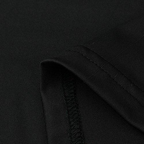 ღ Sera Abiti Da Sexy da ღ Abito Festa Donne Elegante Vestito Abiti Bow alto Collo Spiaggia Vestito Nero Boho Di Senza Partito Abito feiXIANG Spiaggia Sundress Maniche donna Pizzo Mini xYHqI6