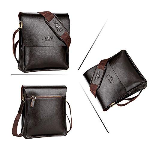 (JN1011-D2) Bolso de hombro para hombres en piel de vaca con la capa superior Bolso de 3 vías Bolso de hombro 2 modelos de cuero genuino-bolsa de bronce Bronce