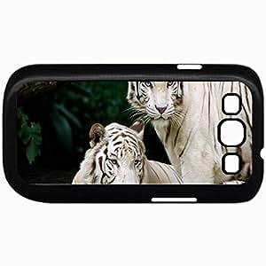 Fashion Unique Design Protective Cellphone Back Cover Case For Samsung GalaxyS3 Case Design White Tiger Beauty Black