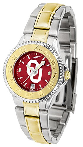 Oklahoma Sooners Competitor Two-Tone AnoChrome Women's Watch - Ladies Executive Anochrome Watch