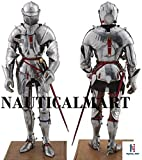 Medieval Knight's SCA LARP Halloween Reenactment Full Body Suit Of Armor