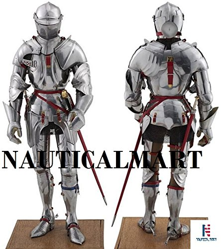 Medieval Knight's SCA LARP Halloween Reenactment Full Body Suit Of Armor by NAUTICALMART
