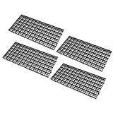 Kayueti 4 Pcs Grid Divider Tray Egg Crate Louvre Aquarium Fish Tank Bottom Isolation