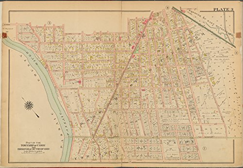 Historic 1912 Map | Bergen County, V. 2, Double Page Plate No. 3 [Map bounded by Ray | Bergen County (N.J.)Atlases of the United States |