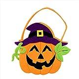 Samber Halloween Pumpkin Bag Decorative Props Portable Children Handbag Candy Bags Gift bag Cloth Bags Smile Pumpkin Basket£¨D)