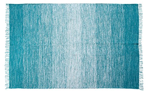 Chesapeake Merchandising 13592 Cotton Ombre Area Rug, 5' x 7', Teal