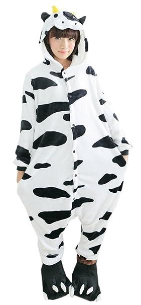 EOZY Pijama Para Mujer Hombre Adulto Diseño De Animal Vaca Tamaño M