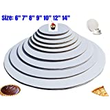 The Bakers Pantry Cake Pizza and Pie Circle, Sturdy White Corrugated Cardboard, 100% Food Safe (6, 7:, 8, 9, 10 12, 14- 4 of Each) by The Bakers Pantry®